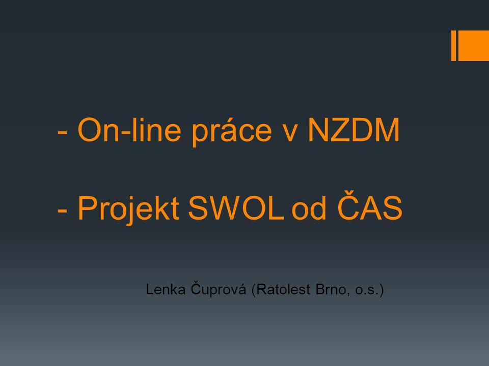 - On-line práce v NZDM - Projekt SWOL od ČAS
