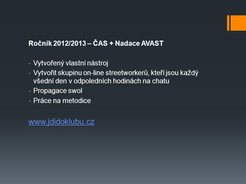 www.jdidoklubu.cz Ročník 2012/2013 – ČAS + Nadace AVAST