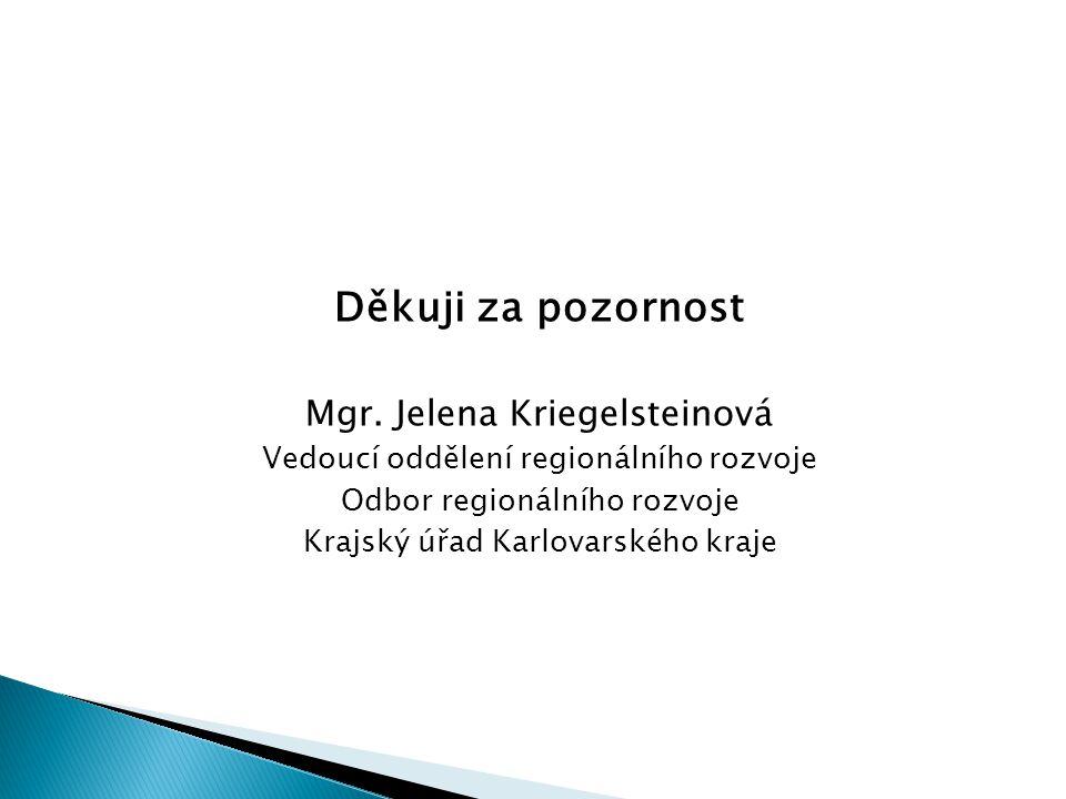 Děkuji za pozornost Mgr. Jelena Kriegelsteinová