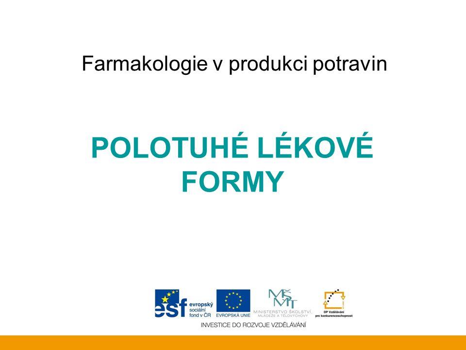 Farmakologie v produkci potravin