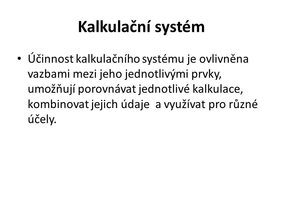Kalkulační systém