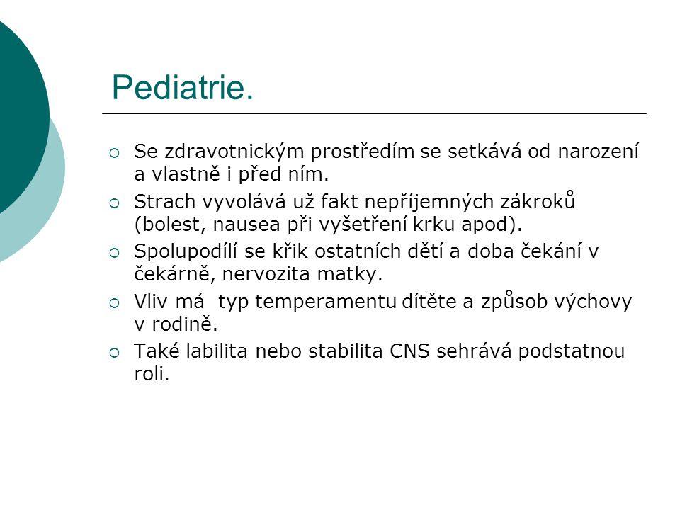 Pediatrie. Se zdravotnickým prostředím se setkává od narození a vlastně i před ním.
