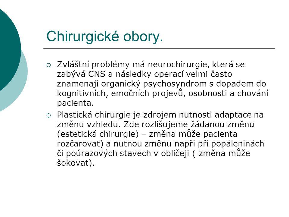 Chirurgické obory.