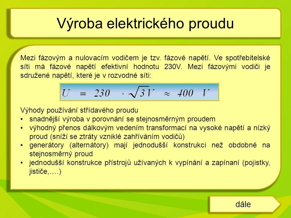 Výroba elektrického proudu