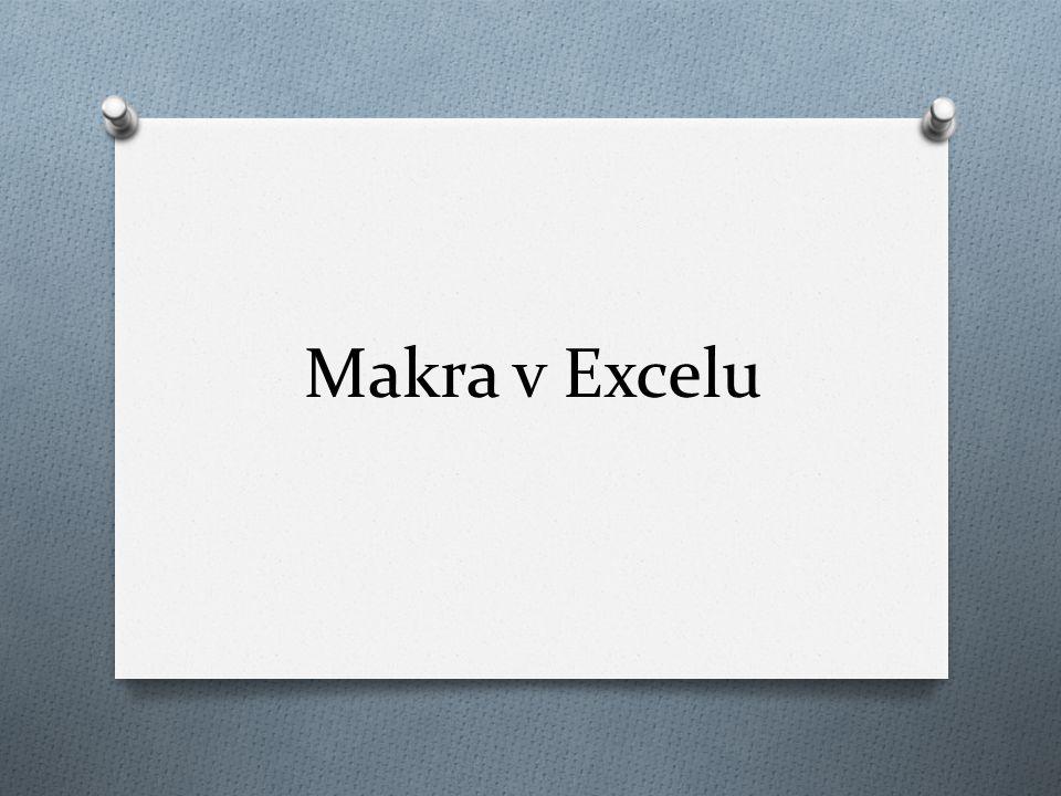 Makra v Excelu