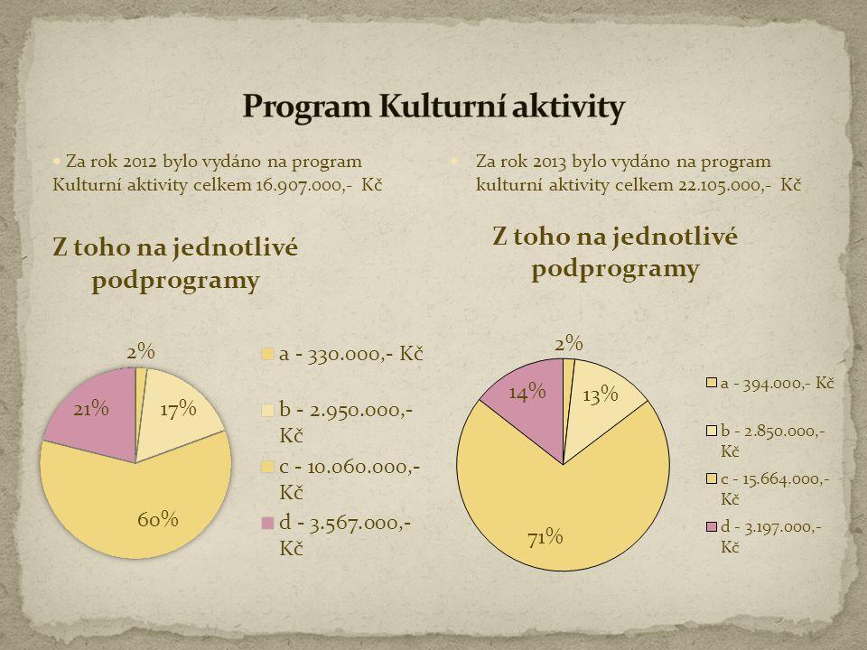 Program Kulturní aktivity