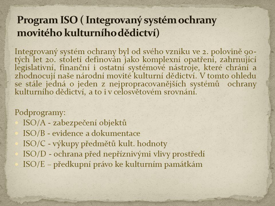 Program ISO ( Integrovaný systém ochrany movitého kulturního dědictví)
