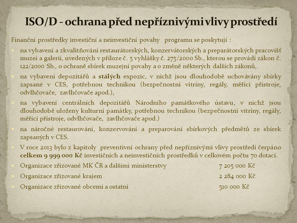 ISO/D - ochrana před nepříznivými vlivy prostředí