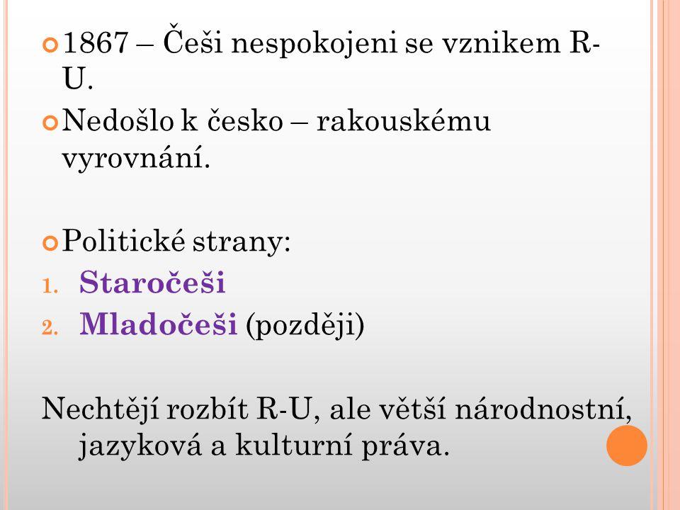 1867 – Češi nespokojeni se vznikem R- U.