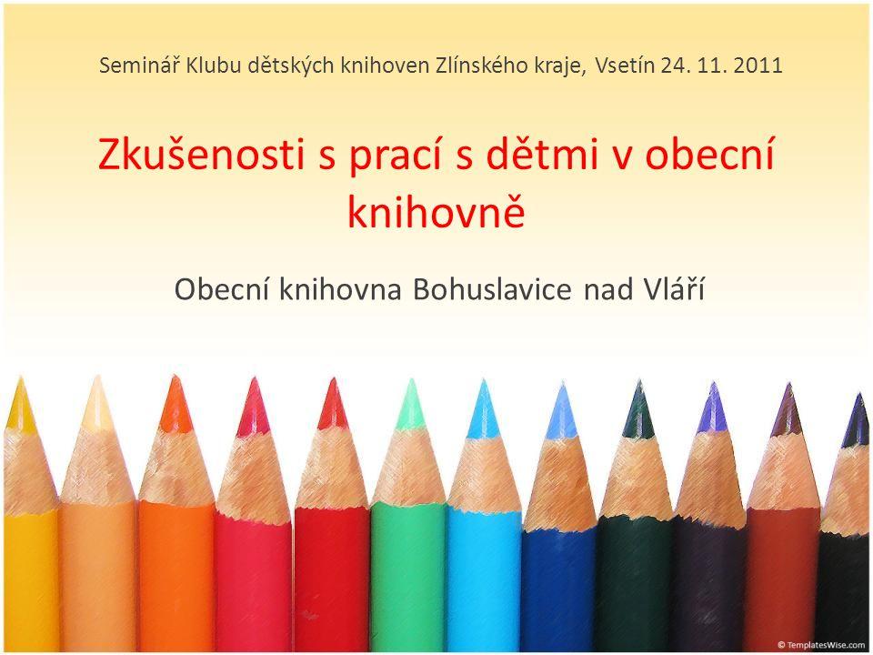 Zkušenosti s prací s dětmi v obecní knihovně