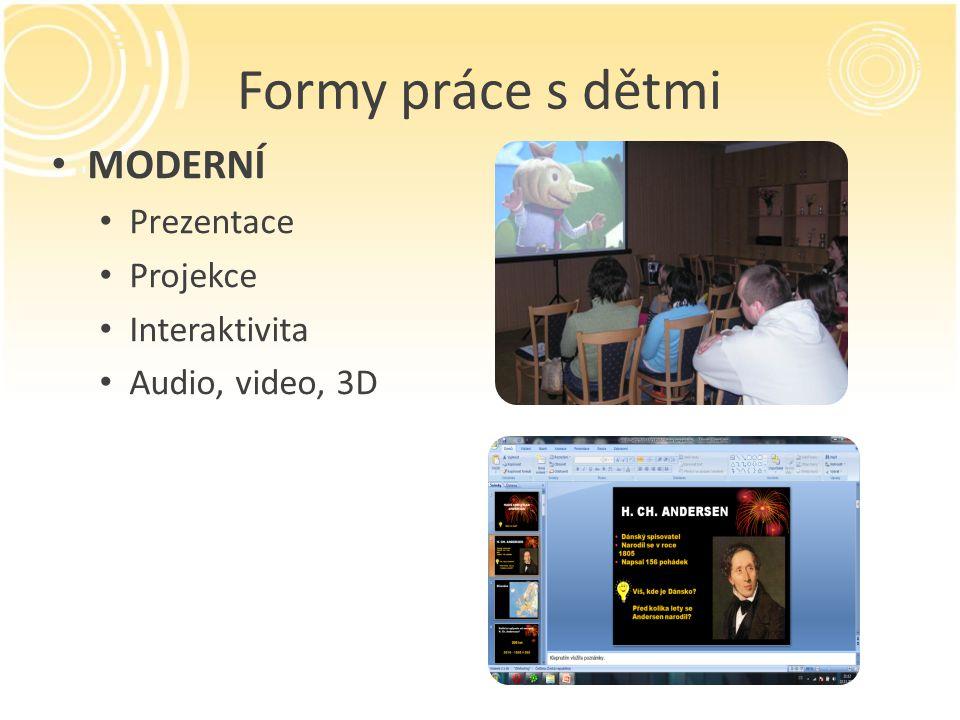Formy práce s dětmi MODERNÍ Prezentace Projekce Interaktivita