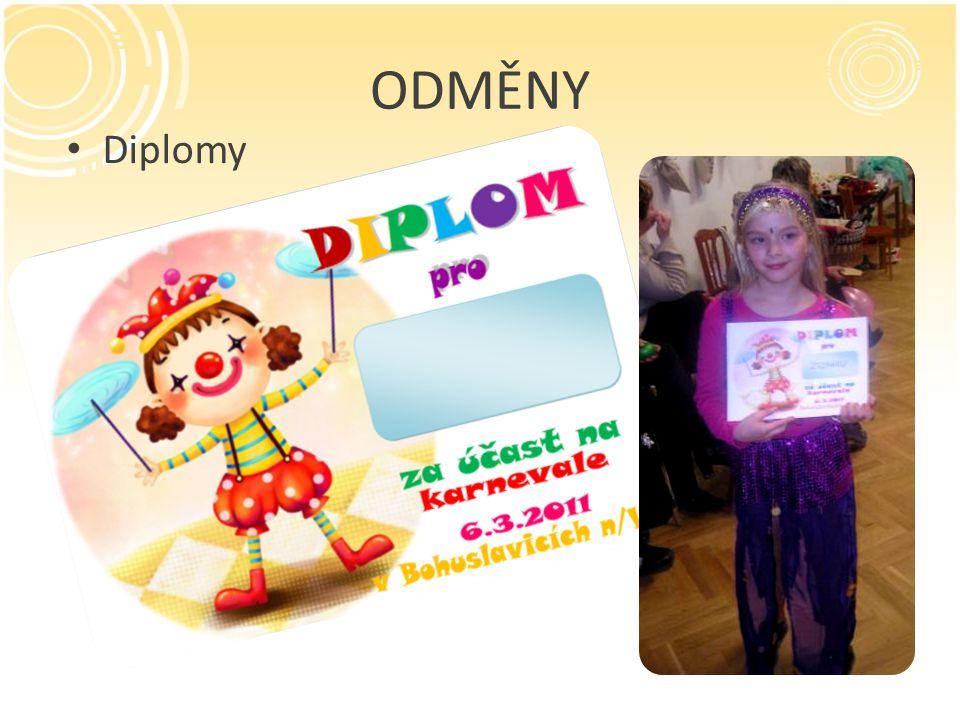 ODMĚNY Diplomy