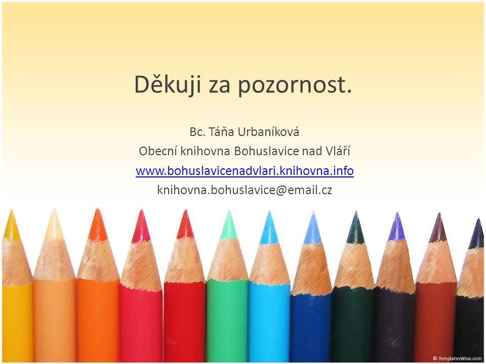 Obecní knihovna Bohuslavice nad Vláří