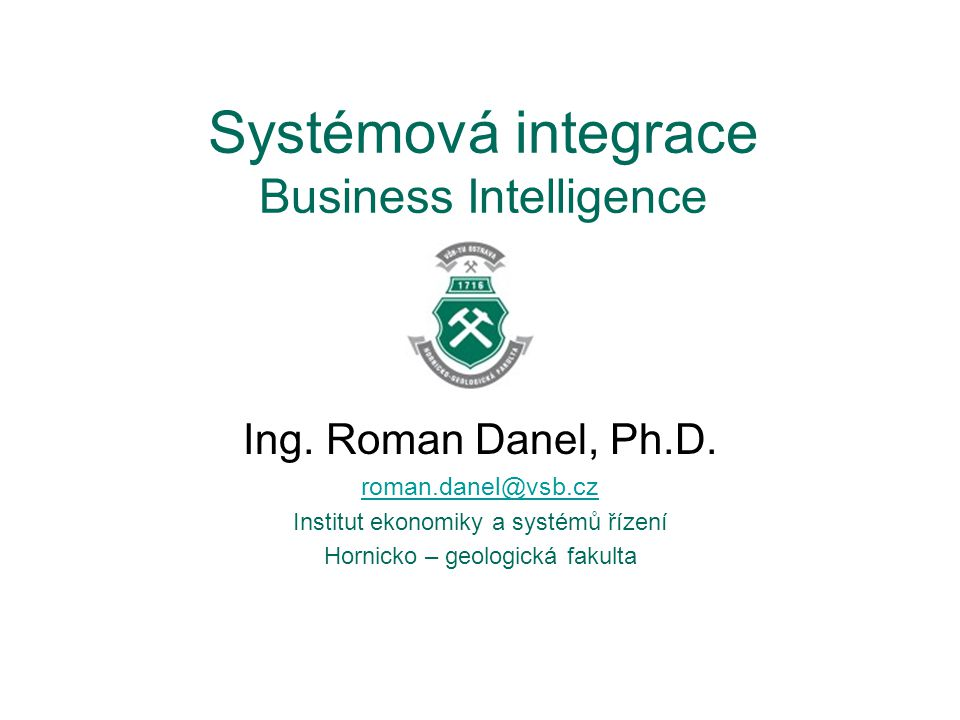 Systémová integrace Business Intelligence