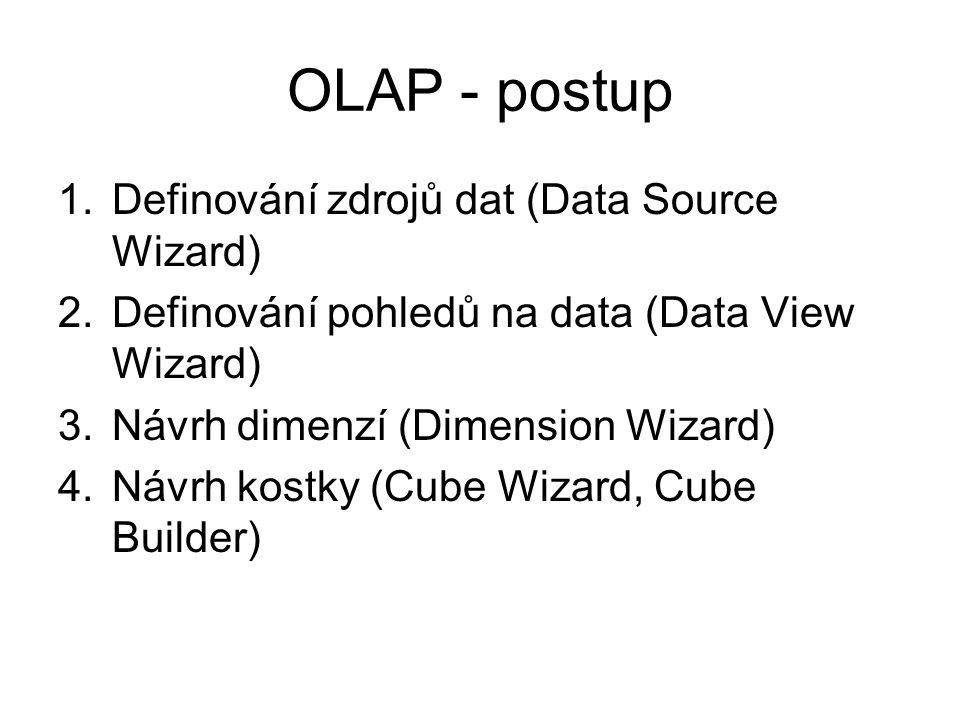 OLAP - postup Definování zdrojů dat (Data Source Wizard)