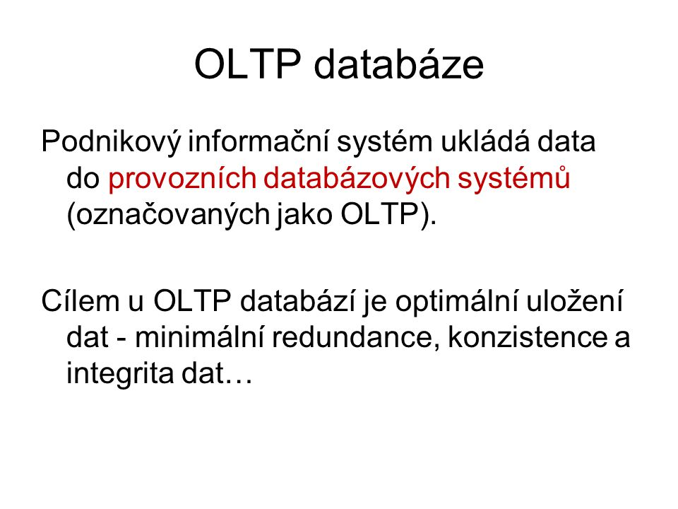 OLTP databáze