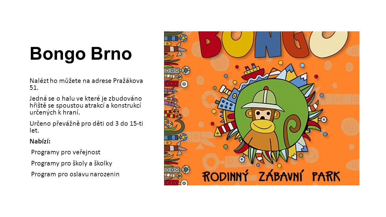 Bongo Brno Nalézt ho můžete na adrese Pražákova 51.