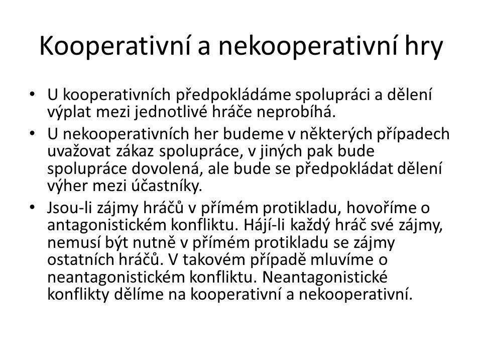 Kooperativní a nekooperativní hry