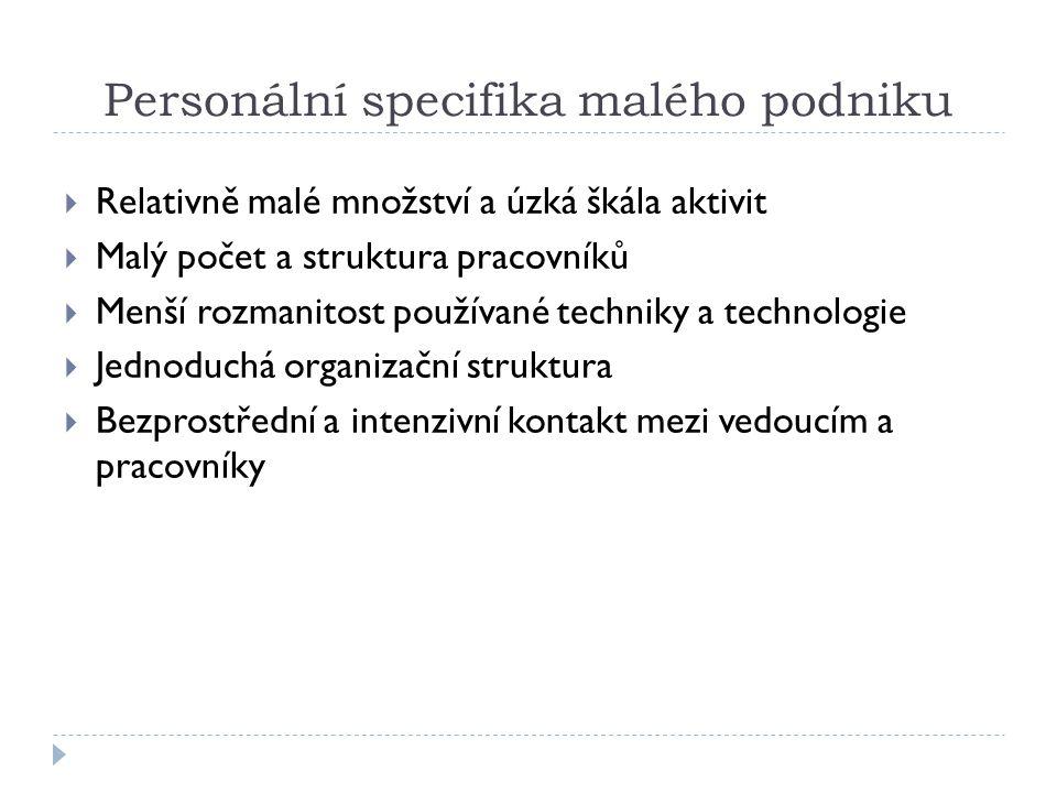 Personální specifika malého podniku