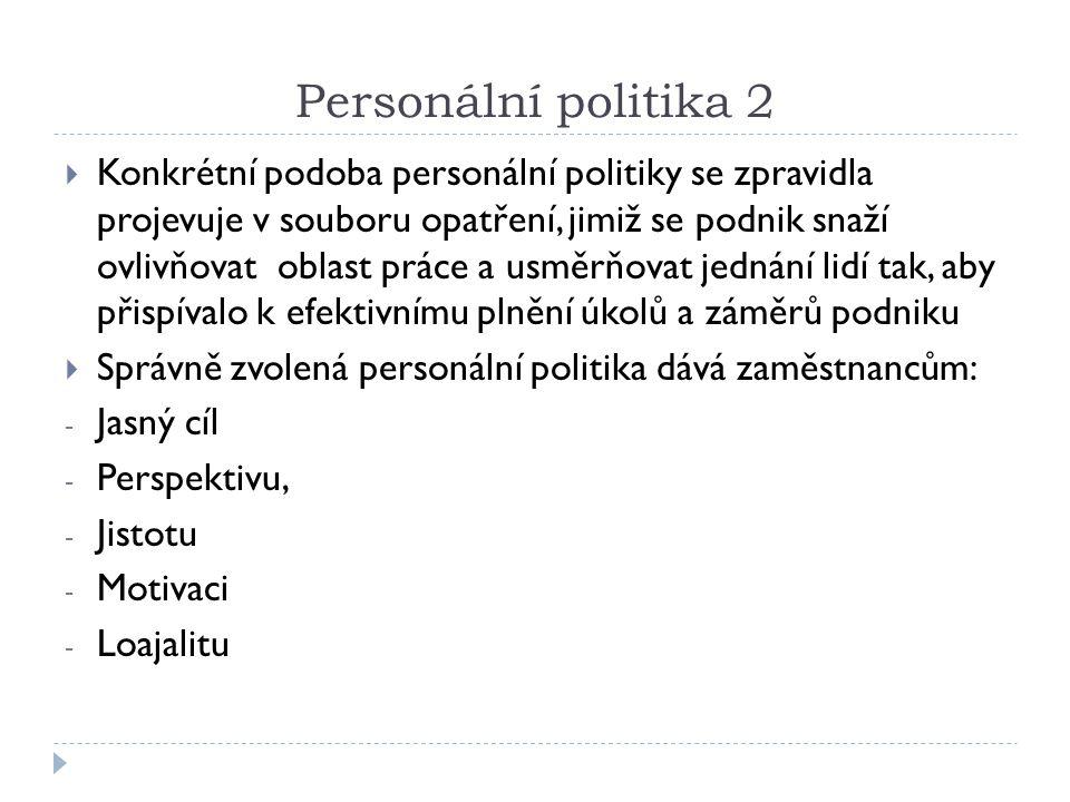 Personální politika 2