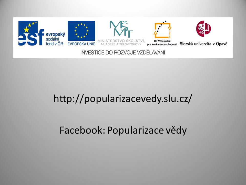 Facebook: Popularizace vědy
