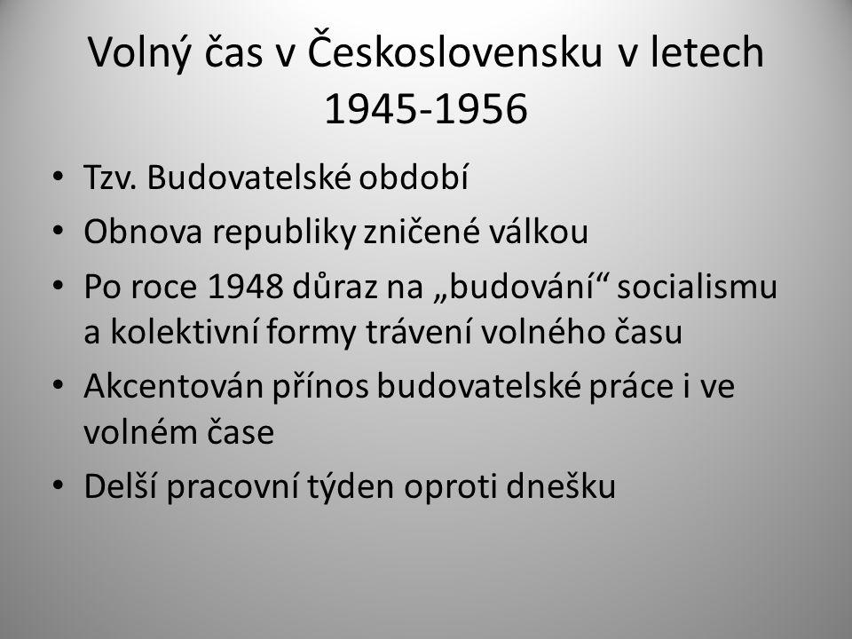 Volný čas v Československu v letech 1945-1956