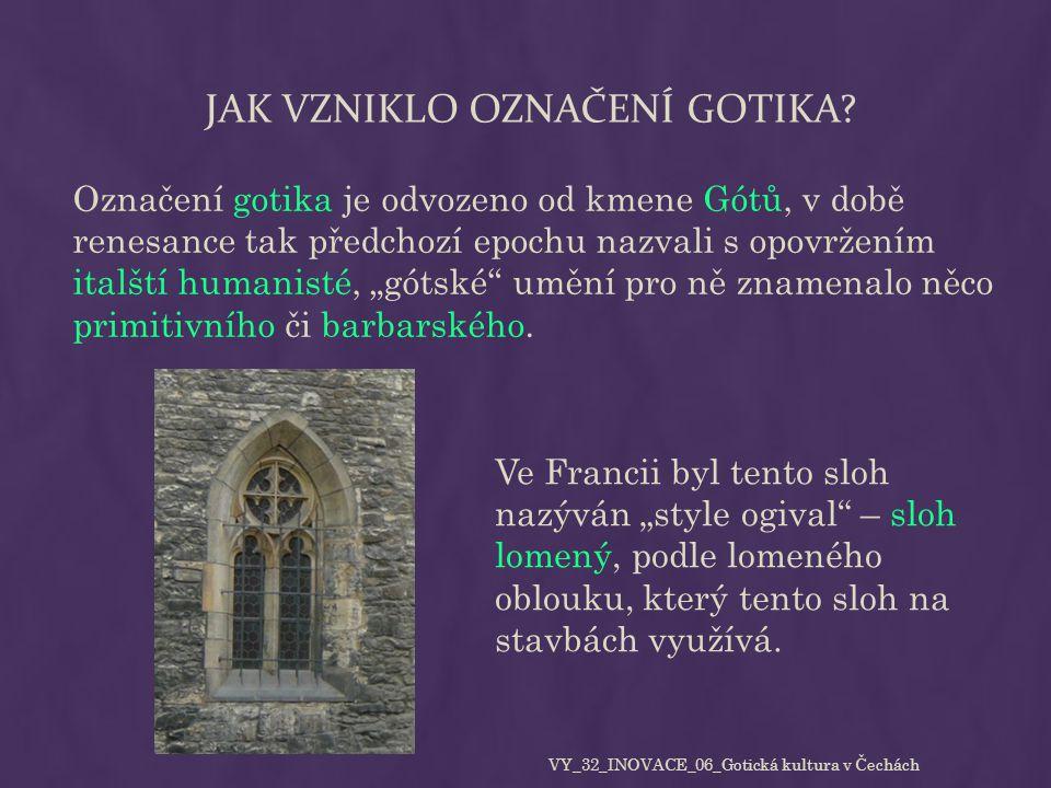 Jak vzniklo označení gotika