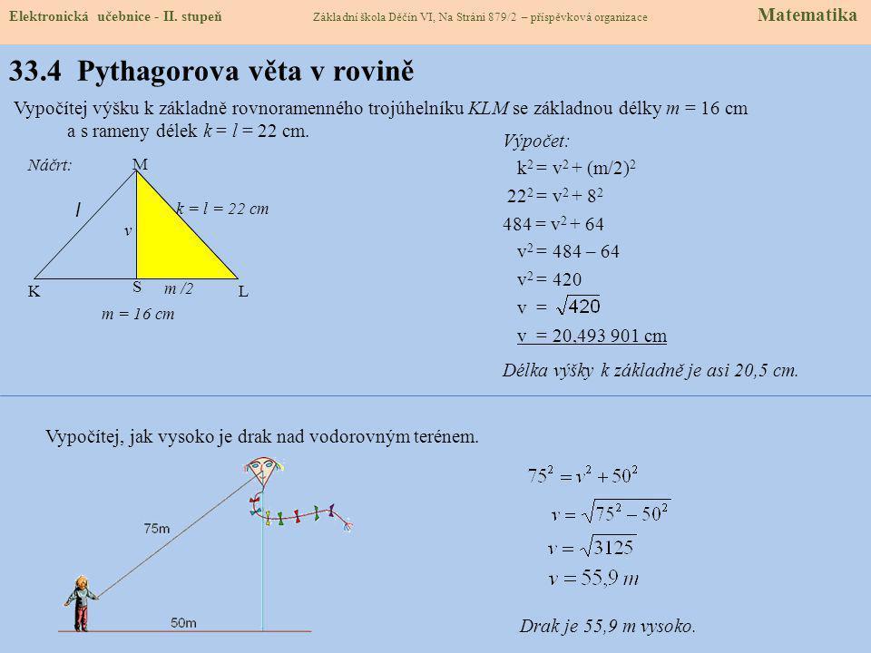 33.4 Pythagorova věta v rovině