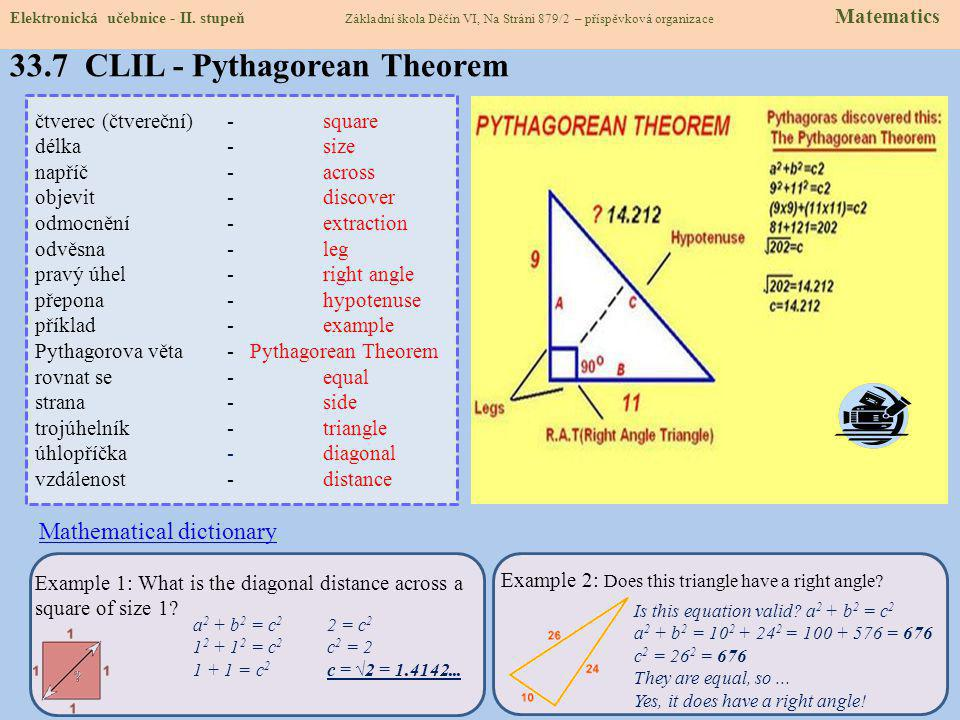 33.7 CLIL - Pythagorean Theorem