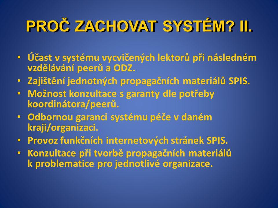 PROČ ZACHOVAT SYSTÉM II.