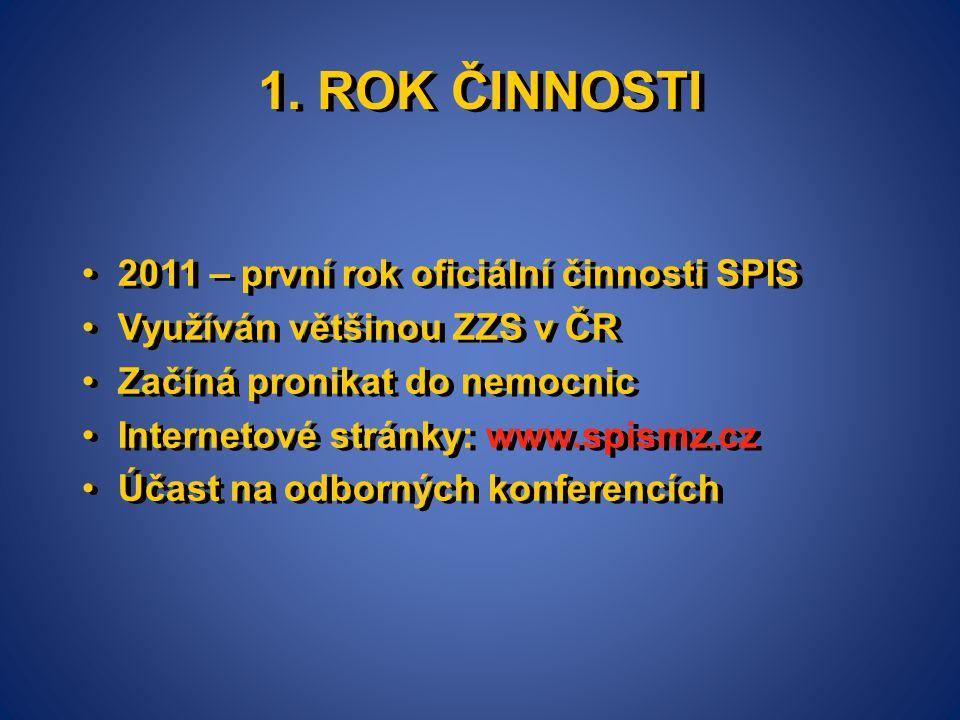 1. ROK ČINNOSTI 2011 – první rok oficiální činnosti SPIS