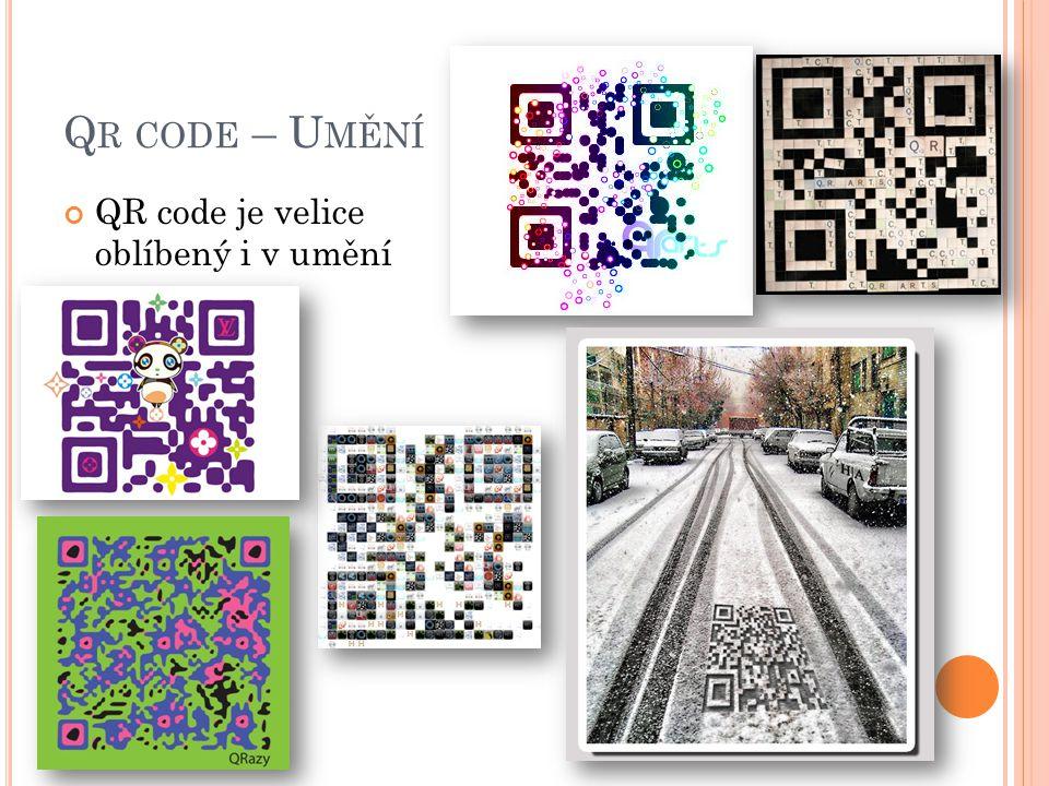 Qr code – Umění QR code je velice oblíbený i v umění