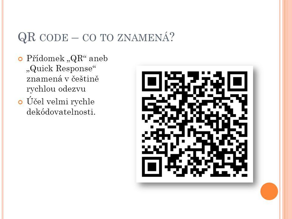 """QR code – co to znamená. Přídomek """"QR aneb """"Quick Response znamená v češtině rychlou odezvu."""