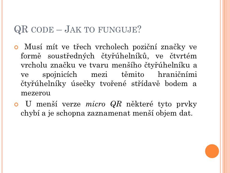 QR code – Jak to funguje