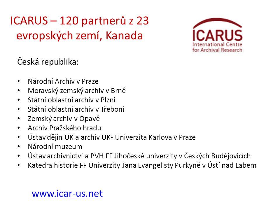 ICARUS – 120 partnerů z 23 evropských zemí, Kanada