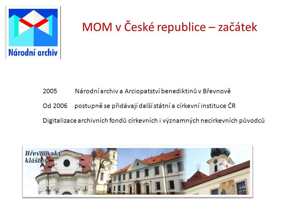 MOM v České republice – začátek