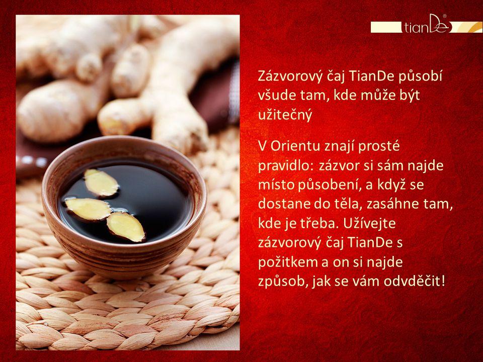 Zázvorový čaj TianDe působí všude tam, kde může být užitečný