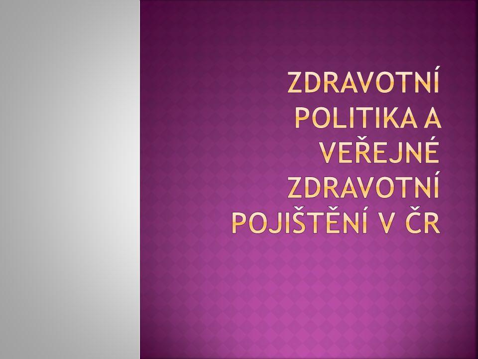 Zdravotní politika a veřejné zdravotní pojištění v ČR