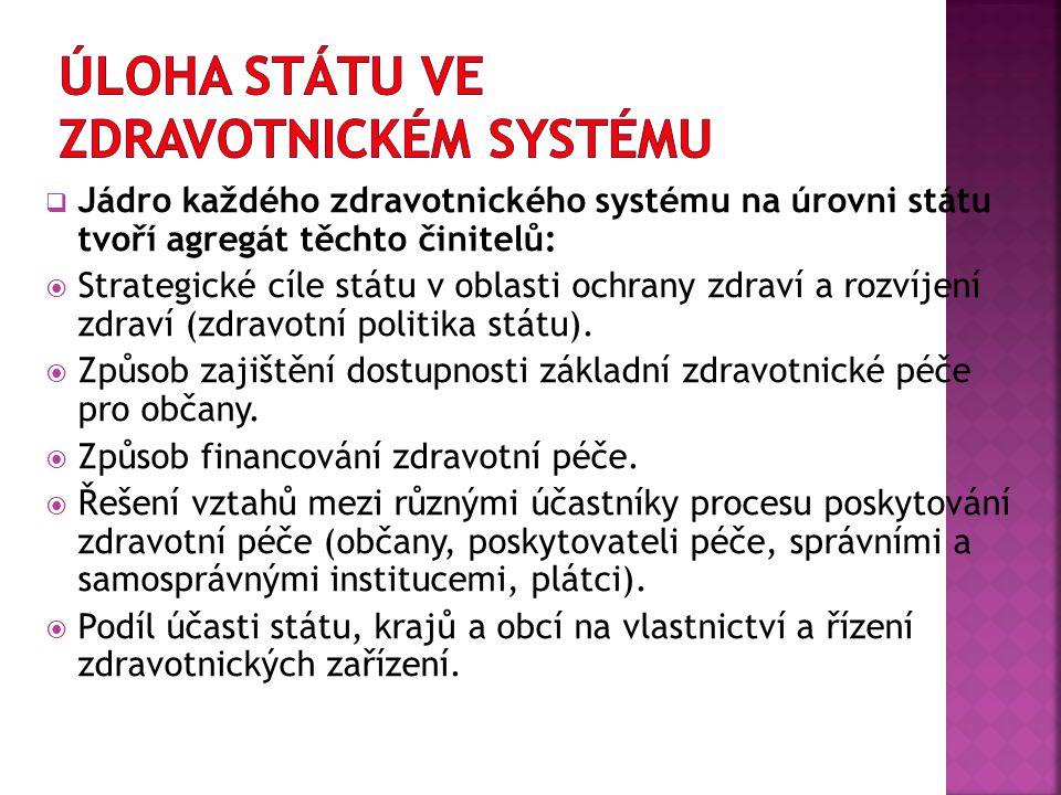 Úloha státu ve zdravotnickém systému