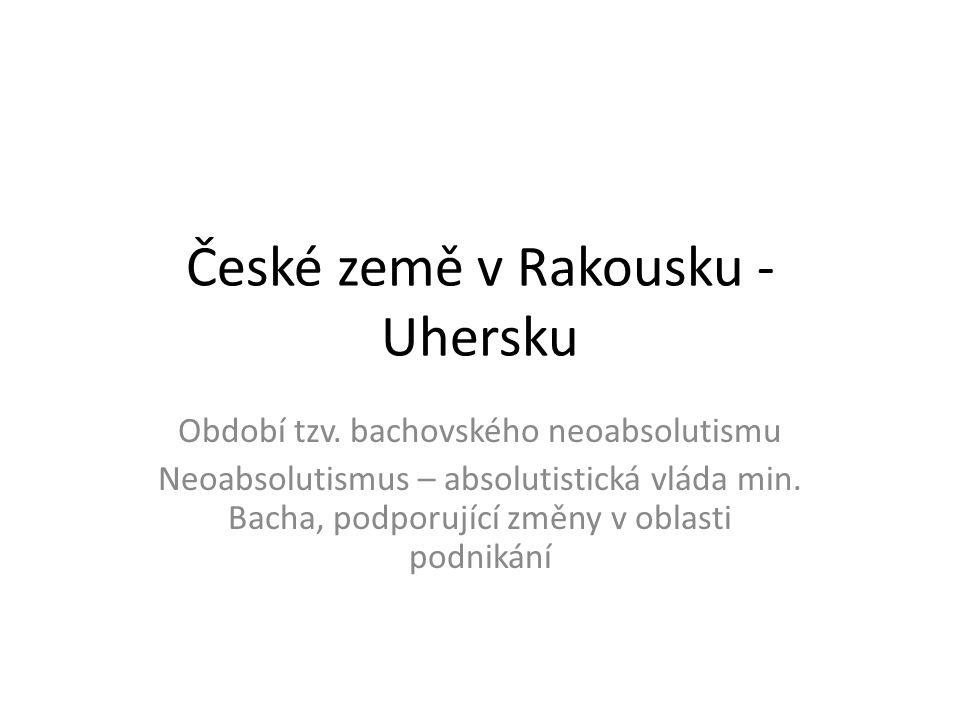 České země v Rakousku - Uhersku