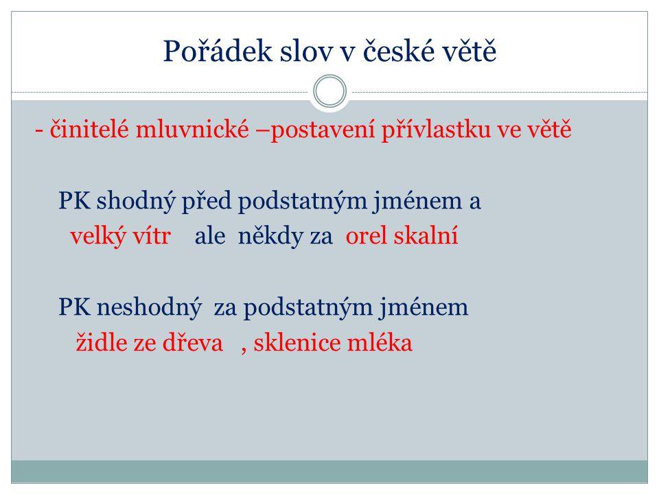 Pořádek slov v české větě