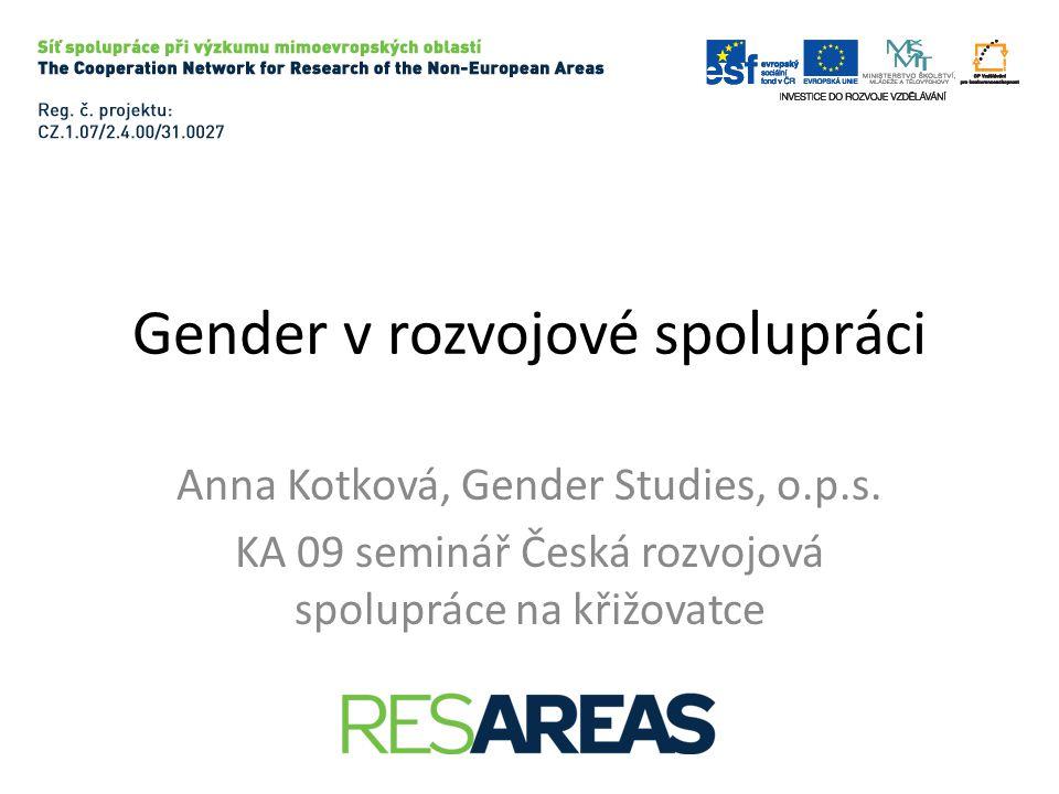 Gender v rozvojové spolupráci