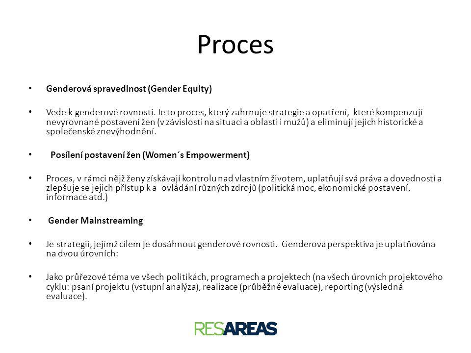 Proces Genderová spravedlnost (Gender Equity)