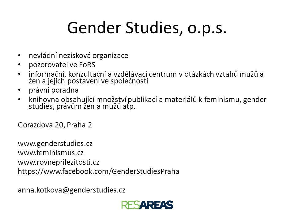Gender Studies, o.p.s. nevládní nezisková organizace