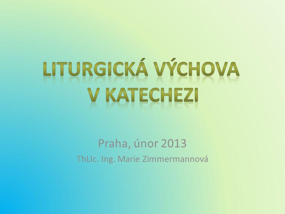 Praha, únor 2013 ThLIc. Ing. Marie Zimmermannová