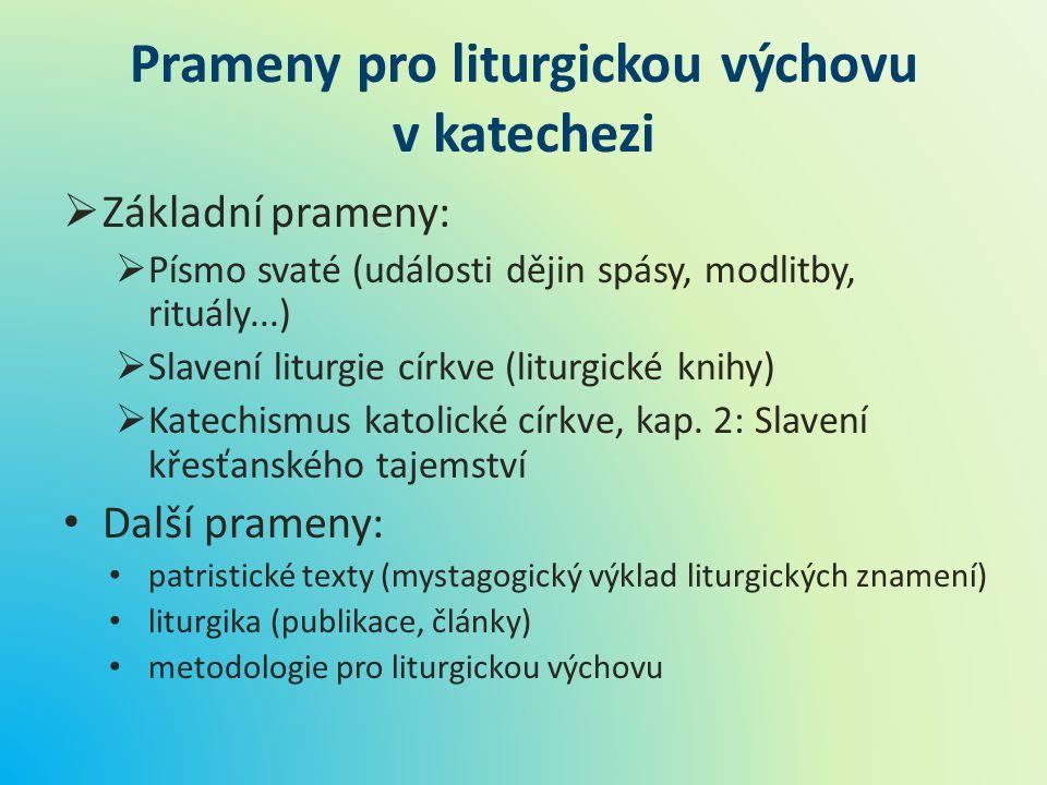 Prameny pro liturgickou výchovu v katechezi