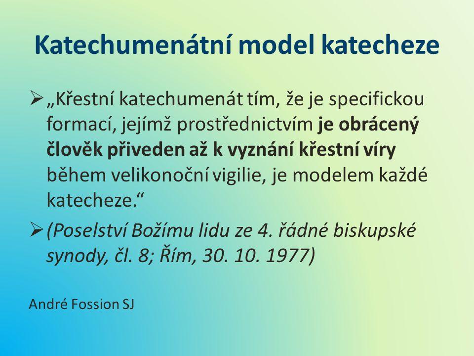 Katechumenátní model katecheze