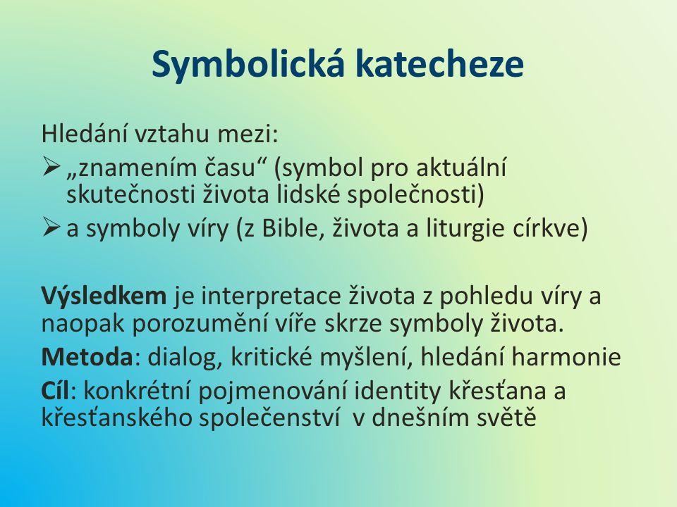 Symbolická katecheze Hledání vztahu mezi: