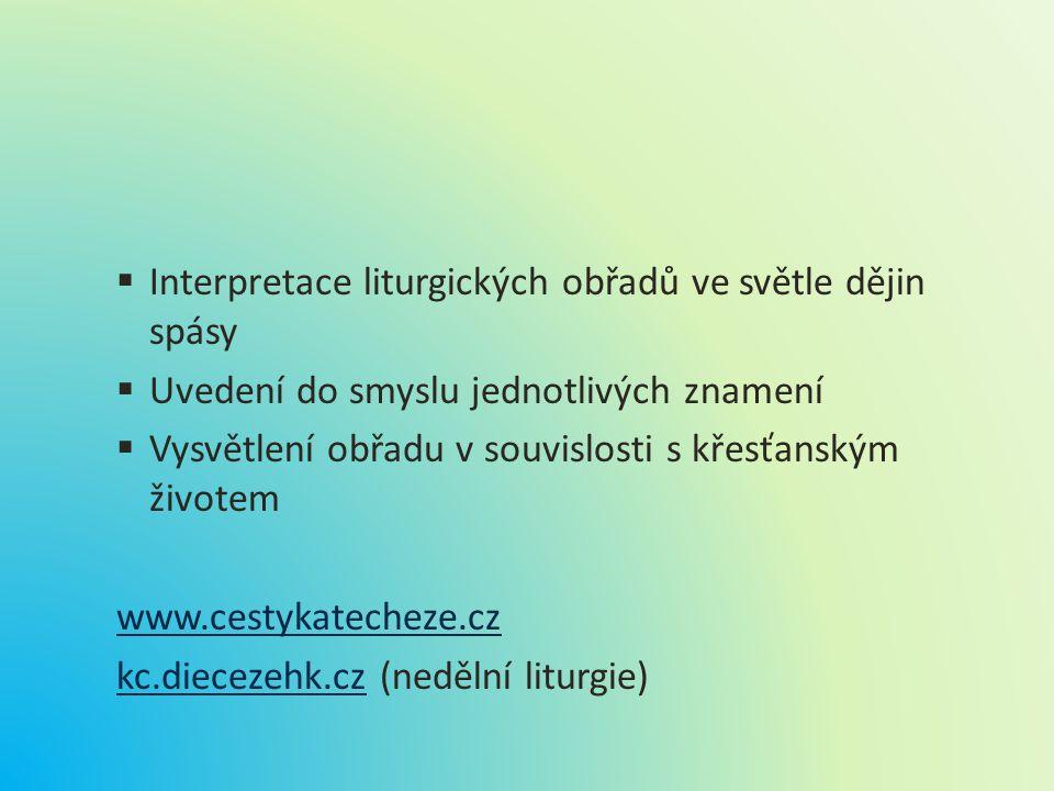 Interpretace liturgických obřadů ve světle dějin spásy