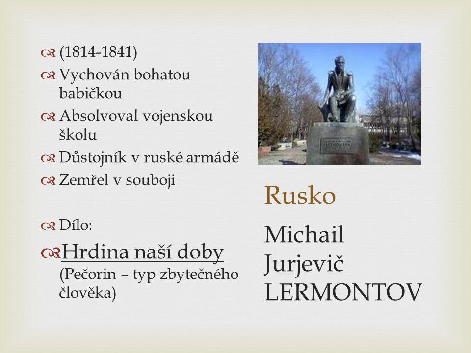 Rusko Michail Jurjevič LERMONTOV